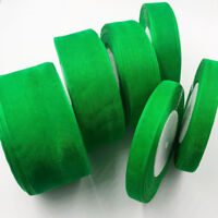 Green Organza Ribbon Wedding Party Decoration Gift Wrapping Christmas ribbon 19