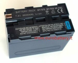 Batteria Ricambio per SONY NP-F960 NP-F970 NP-F950 HVR-Z1U 1080i HDV HVR-Z5