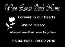 Personalised Memorial Garden Plaque, Loved one's Memory, In Loving Memory Of