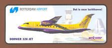 Dornier 328 Welcome Air Austria Rotterdam Airport Label