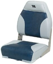 "New Mid Back Boat Seat wise Seating 8wd588pls660 Gray/Navy 21"" D x 17"" W x 21-1/"