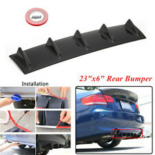 "1x Black ABS Shark Fin 5 Wing Lip Diffuser 23"" x6"" Rear Bumper Chassis with Tape"