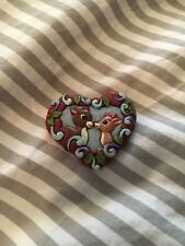 Jim Shore Rudolph The Red Nosed Reindeer Pin Brooch