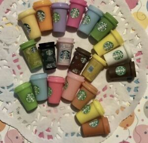 Updated: Starbucks Resin Tumbler Cups Cabochon Slime Charms Assorted Colors 21