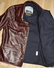 Aero Premier 1920s Work Coat sz 40 Cordovan Vicenza Horsehide Leather Jacket