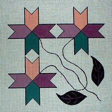 KW 116 Quilt Star Pattern HP Hand Painted Needlepoint Canvas