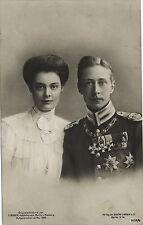 PHOTO CP VINTAGE : GUILLAUME II PRUSSE Willhelm KRONPRINZ et épouse CECILIE 1905