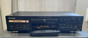 AS IS PIONEER PDR-609 CD RECORDER DIGITAL BURNER W REMOTE for repair/parts