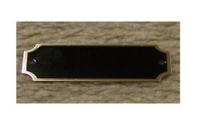 "1""x3.25"" Black Brass Perpetual Engraving Plates 100pcs with Gold Screws (200pc)"