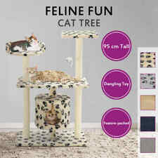 vidaXL Cat Tree with Sisal Scratching Posts Tower Condo House Multi Colours