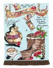 Julia Junkin Design for PHI Cotton Kitchen Tea Towel Chocolate Lovers - NEW