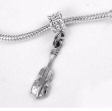 Violin charm only violin viola  charm fits European bracelets violin fiddle gift