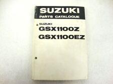 CATALOGO PARTI RICAMBIO SUZUKI GSX 1100 OZ OEZ PARTS CATALOGUE