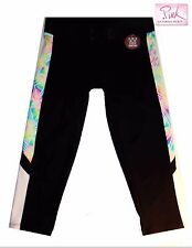 NWT Sz XS Victoria's Secret PINK Ultimate Extreme Crop Leggings Black White New!