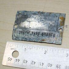 977l Crawler Track Loader Caterpillar Plaque Cat Serial Number Badge Original