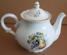 Collectible Vintage Baum Bros Formalities Gold Trim 4 Cup Pears & Grapes Teapot