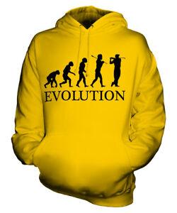 GOLF PLAYER EVOLUTION OF MAN UNISEX HOODIE MENS WOMENS LADIES GIFT GOLFER
