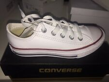 CONVERS ALL STAR White Leather Kids Size: UK-11.5 EU-29