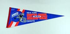 1987 Super Bowl Xxi Champions New York Giants 01/25/1987 Football Pennant