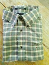 TOMMY HILFIGER Men's Plaid Button Down Shirt Size 2XL