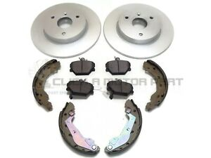 SMART CAR FOR TWO ROADSTER CITY FRONT 2 BRAKE DISCS AND PADS + REAR SHOES