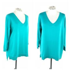 Woman Within Sweater Plus Women 18 20 Large Cotton Blend V-Neck Thin Knit New