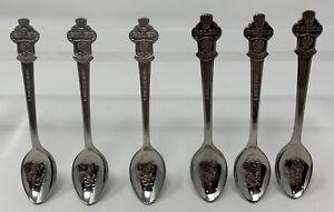 Vintage Rolex Watch Promo Lucerne Demitasse Spoon Set Of 6 Bucherer Switzerland