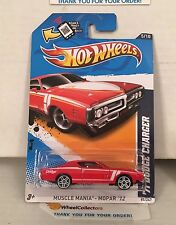 '71 Dodge Charger #85 * RED * 2012 Hot Wheels * D17