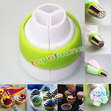 3-Color Icing Piping Bag Nozzle Converter Coupler Cake Cream Decor Tool