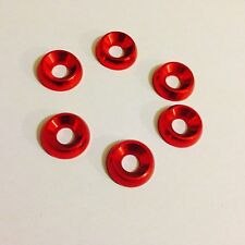 Kart Pack of Six M8 x 21mm Countersunk Washer Red Brand New Karting