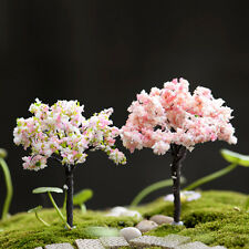 3X DIY Garden Decoration Bonsai Sakura Tree Miniature Plant Pots Fairy Ornament