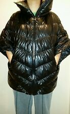 New Womens NIKE Black Cascade Down Water Repellant Poncho Jacket M