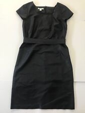 Pendleton Black Silk Cap Sleeve Evening LBD with Belt