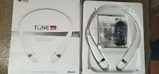 Lg Tone Pro White Neckband Headsets Bluetooth Open Box