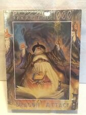 Factory Sealed New DRAGON ATTACK 'Wizard Work'  1000 pcs Puzzle. 1998 Fink & Co.