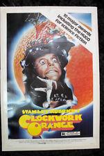 A Clockwork Orange - Dir. Stanley Kubrick (r.1982) Us One Sheet Movie Poster Lb