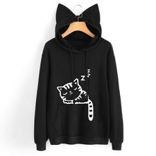 Womens Cat Ear Hoodie Sweatshirt Long Sleeve Hooded Coat Jumper Pullover Tops