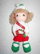 "1989 Christmas Edition PRECIOUS MOMENTS Fabric Doll APPLAUSE 11"" Tall HOLIDAY"
