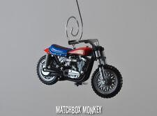 Daredevil Evel Knievel Harley Davidson XR750 Stunt Bike Motorcycle Ornament