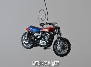 Evel Knievel Harley Davidson XR750 Stunt Bike Motorcycle Christmas Ornament