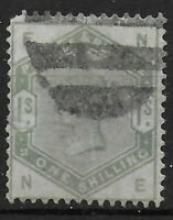 SG.196. 1s.Dull Green. Fine Used. Slightly Rounded NW Corner. Cat.£250. Ref 9.38