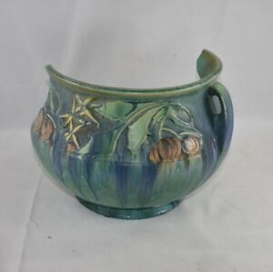 Roseville Pottery Baneda Green Jardinere 626-8 As-Is For Restoration