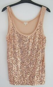 BNWTS J. CREW SEQUIN FRONT SLEEVELESS TOP SIZE M