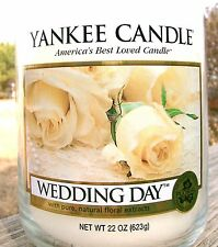 """Yankee Candle """"WEDDING DAY"""" Floral Scented Large 22 oz. ~ WHITE LABEL ~  NEW!"""