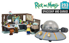 Rick and Morty Buildable Spaceship and Garage Large Construction Set 293 pcs