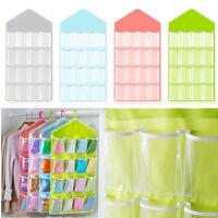 Home 16-Pocket Clear Over Door Hanging Bag Shoes Rack Hanger Storage Organizer