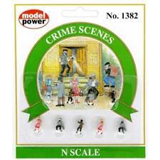 Model Power Crime Scenes (9 figures) Ready to Use - 1382 - N Gauge