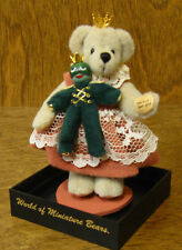 World of Miniature Bears #679 PRINCESS N' FROG , by Sherri Dodson 6""