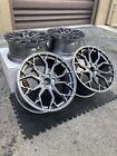 20x921x12 Rotary Forged Wheels Sf10 Brushed Dual Gunmetal For Corvette C8
