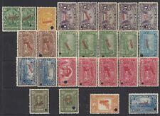 Costa Rica Definitive Issues,UPU,Postal Congress SPECIMEN All Printings MNH 1923